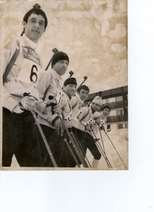 The 1968 British Olympic Biathlon Team. RB nearest camera. [Copyright George Konig]