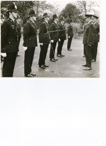 Police training School, Sandgate, Kent. PC 424 Roger Bean, 3rd left, front row
